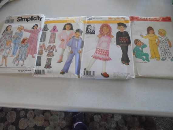 SEWING PATTERN LOT Childrens Girl sz 3-6 Vests by AngieFoundit4U