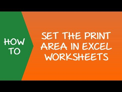 How to Set the Print Area in Excel Worksheets Video  www - Create A Spreadsheet In Excel