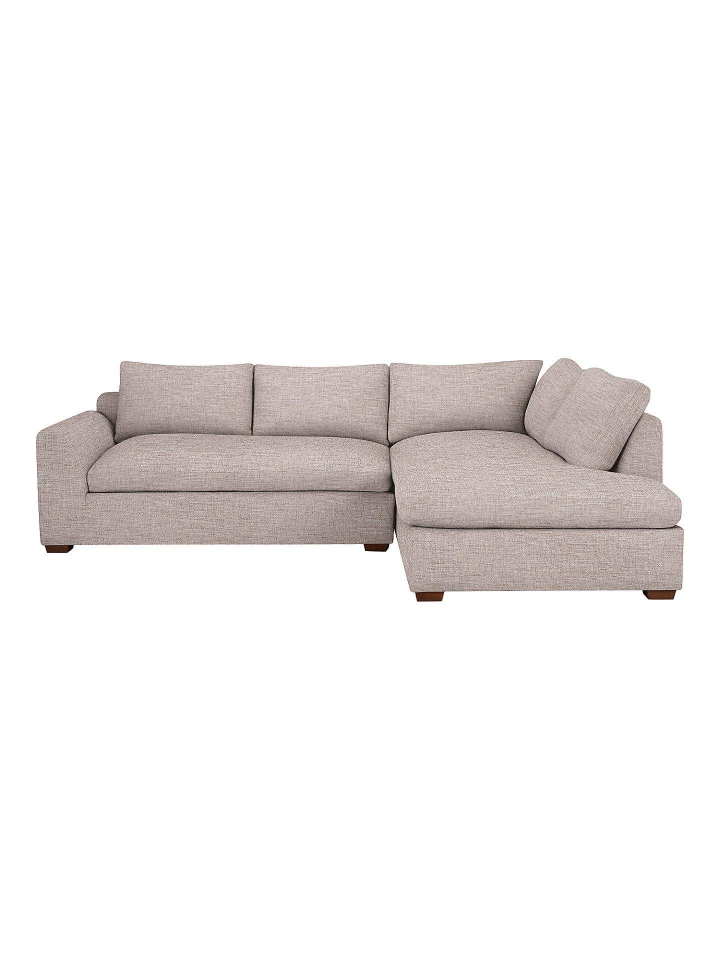 John Lewis & Partners Tortona RHF Chaise End Sofa, Aquaclean ...