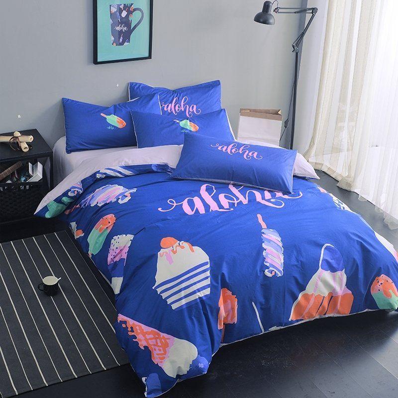 Royal Blue and White #Bedding #Bedspread #Bedroom Sets ...