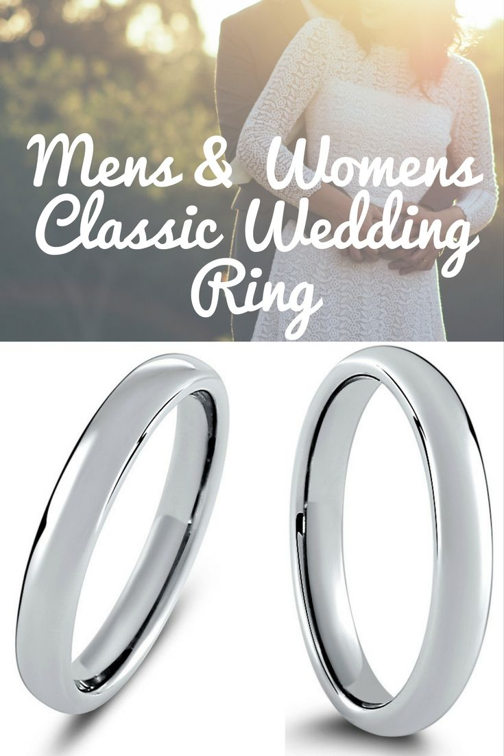 Mens or womens classic silver wedding band crafted out of the most