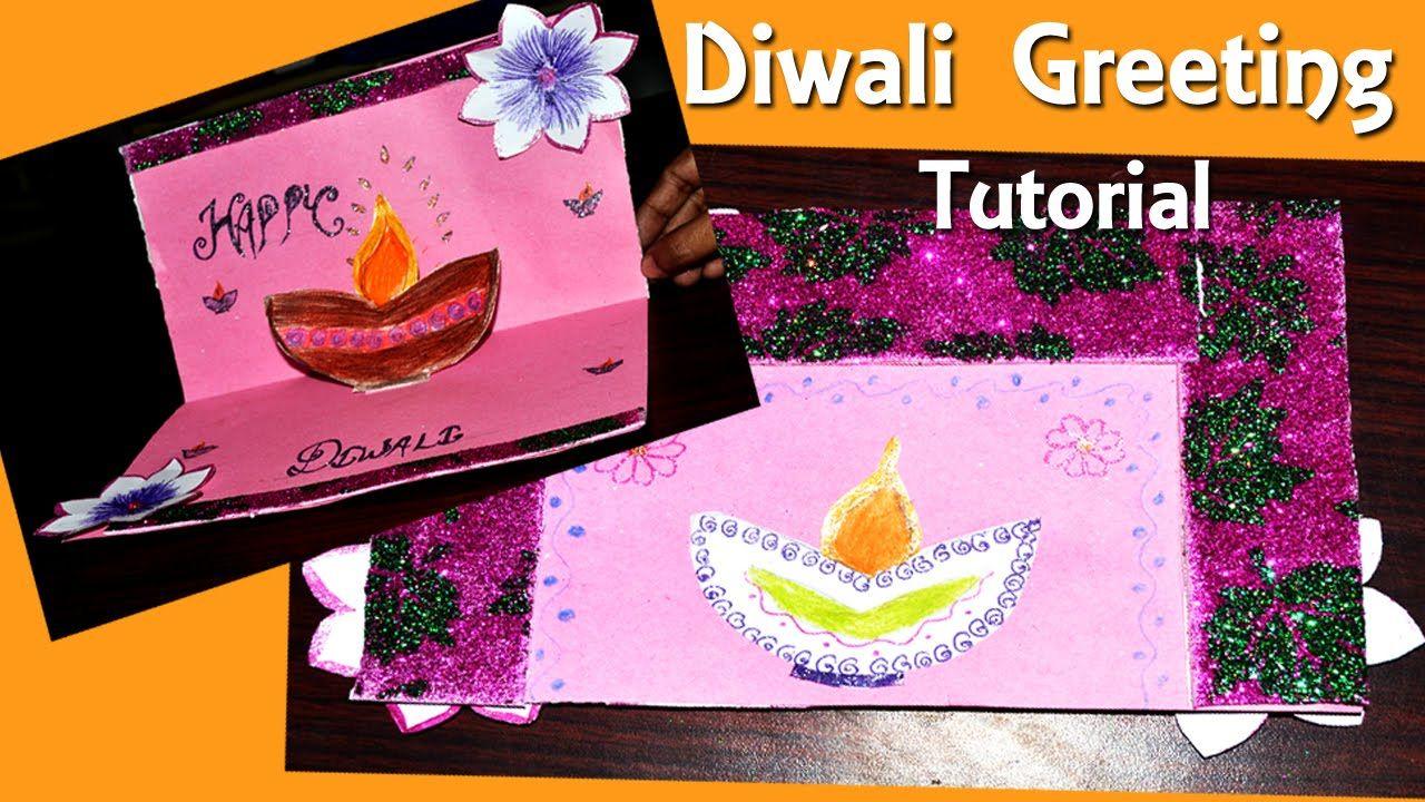 Step By Step Diwali Greeting Ecard Diy Tutorial Simple And Easy