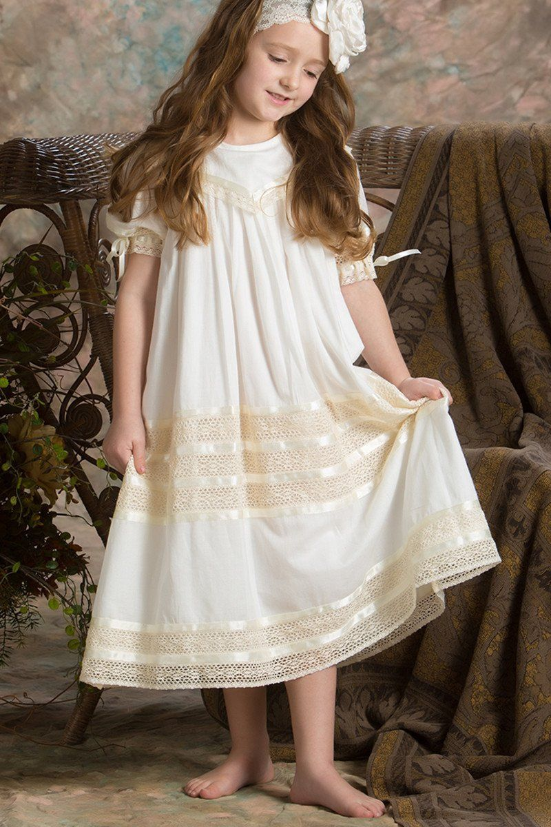 d39c465c16 Ivory Communion Dresses for Little Girls. Ivory Communion Dresses for  Little Girls White Baptism Dress ...