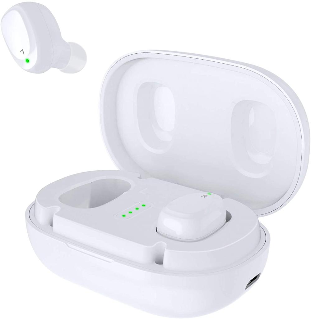 Amazon Com Bnchi Wireless Earbuds Bluetooth 5 Headphones In Ear With Metal Charging Case Super Ste Wireless Earbuds Bluetooth Headphones Wireless Headphones
