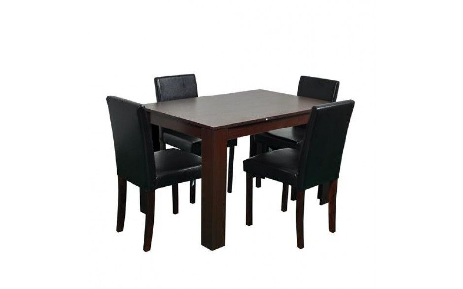 H4home Walnut Dining Table With 4 Chairs Dining Table In Kitchen