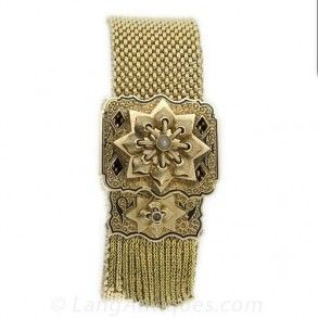VICTORIAN GOLD MESH BRACELET