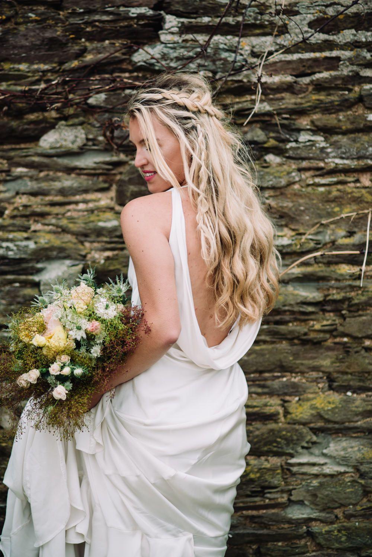 Wild Coastal Elopement Bridal Inspiration At New Barton Barns