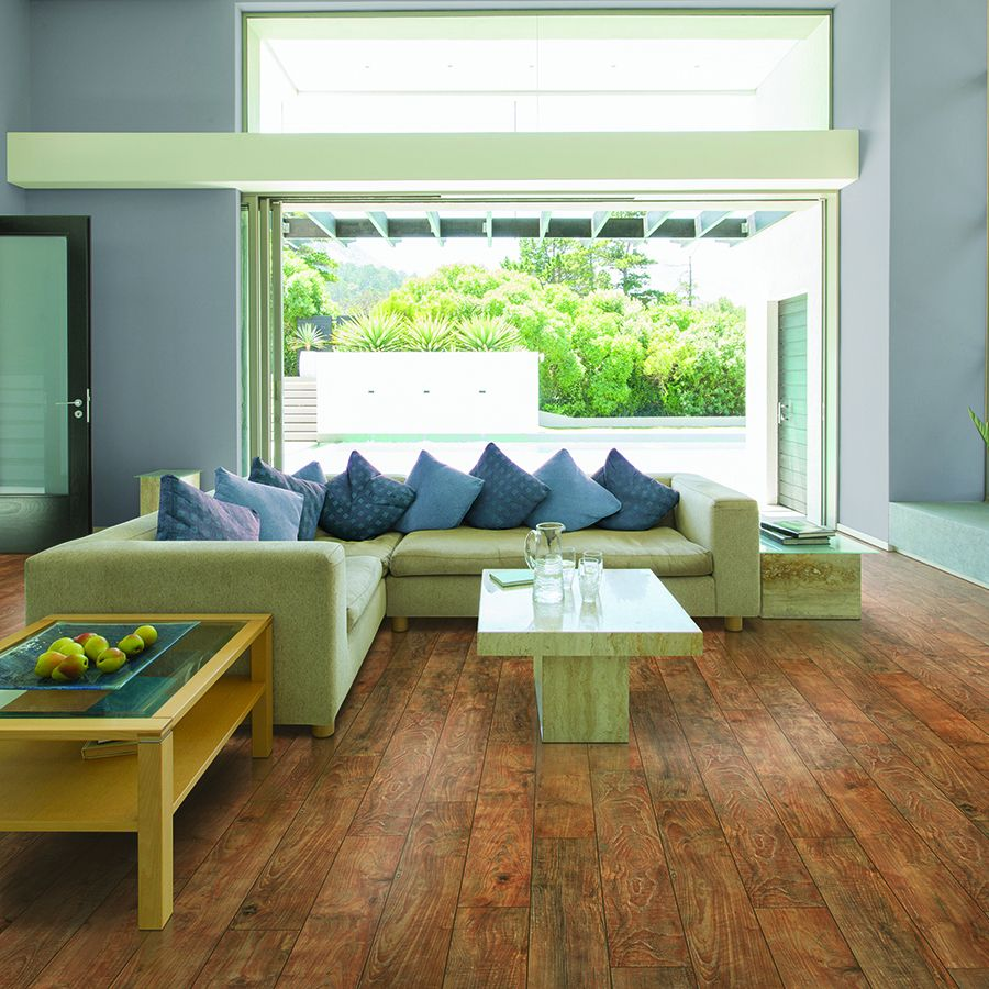 shop pergo max 6 14 in w x 3 93 ft l shabby teak embossed laminate