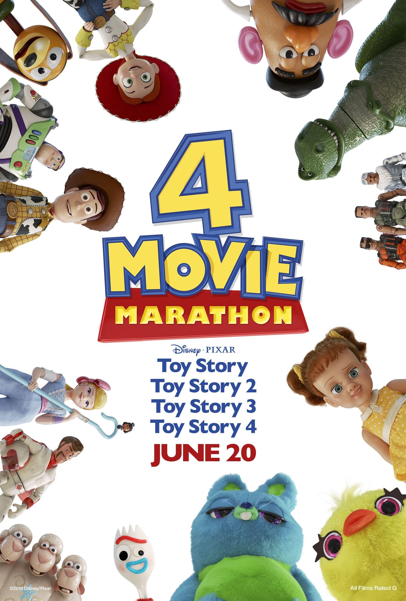 Omg Toy Story 4 Movie Marathon At An Amc Theatre Near You Movie Marathon Toy Story Pixar Toys