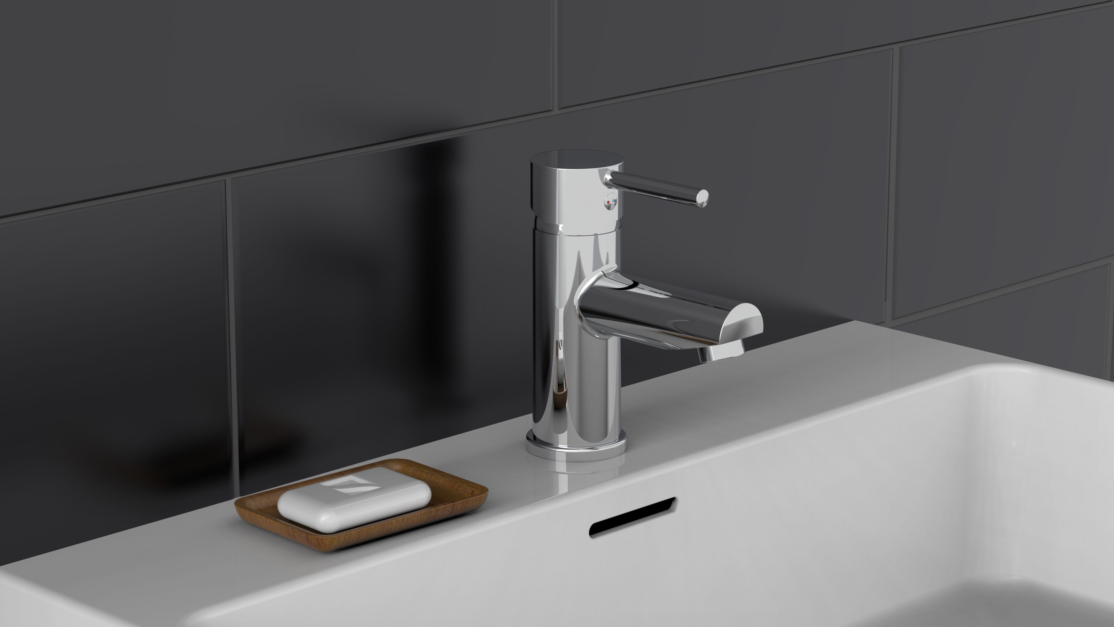 Waschtischarmatur, Wasserhahn für Waschtisch, Badarmatur, DIY Bad
