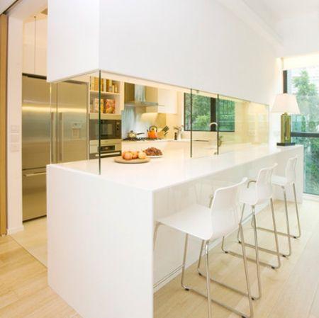 closing off an open plan kitchen or semi open plan kitchen design