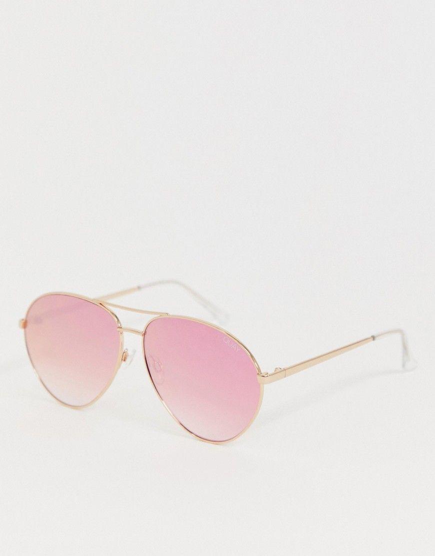 80f16eeac5391 Quay Australia heart breaker sunglasses in rose gold in 2019