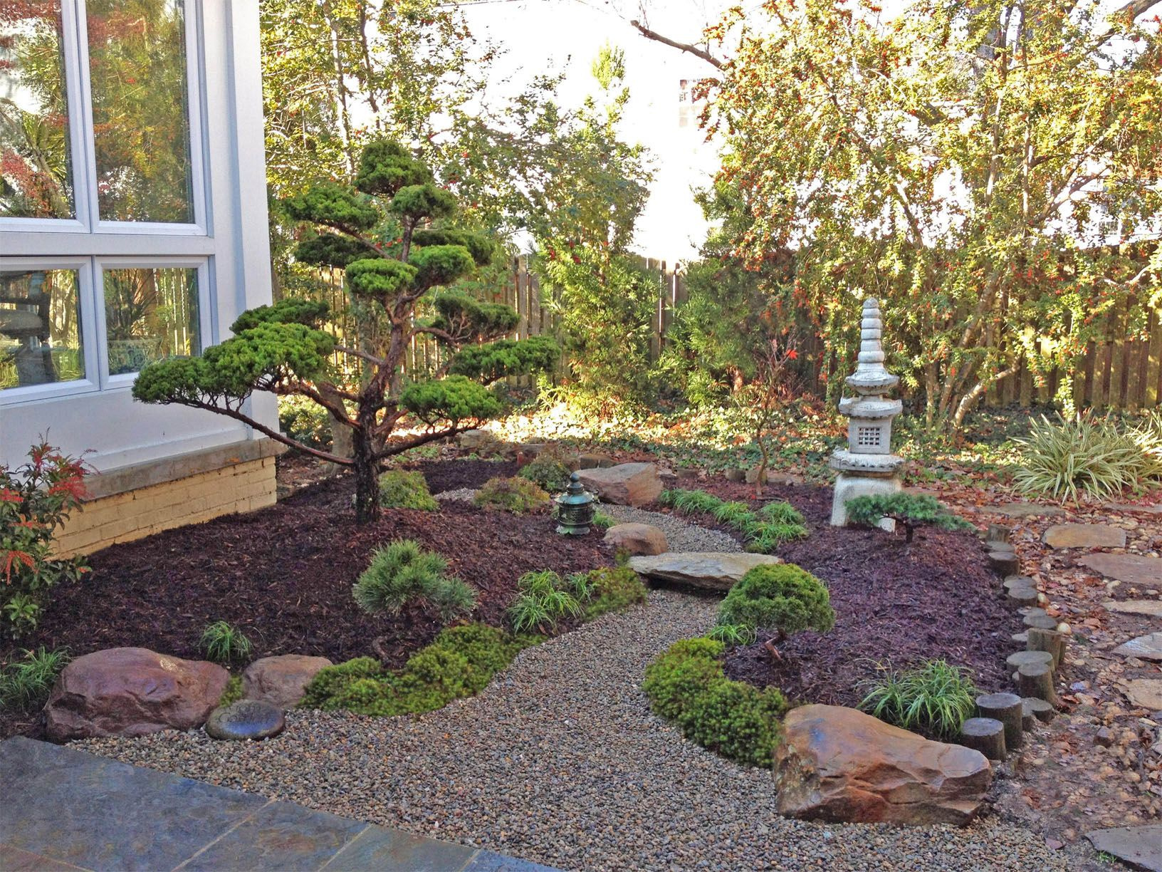 Japanese garden backyard landscape design by lee 39 s for Japanese style landscaping