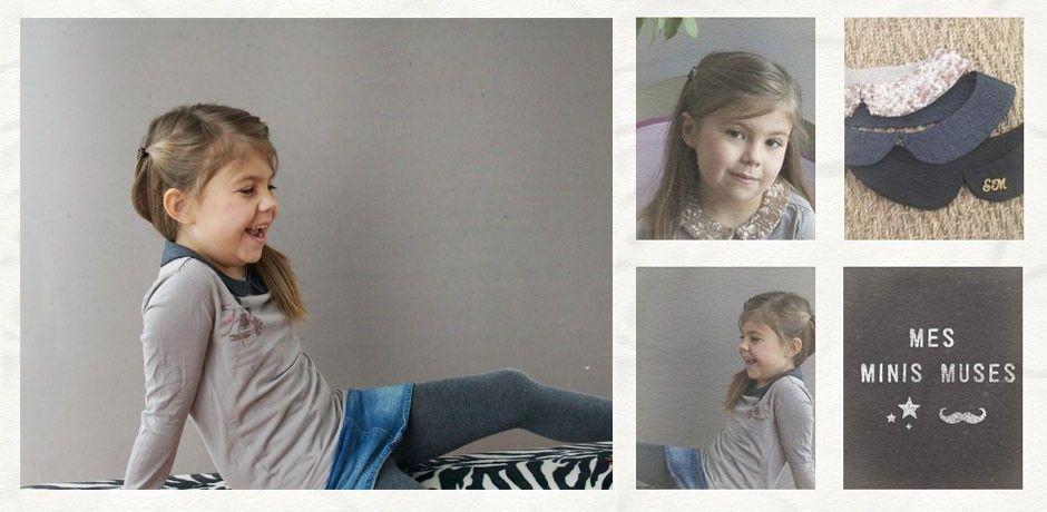 Création de cols claudine pour bébés et enfants - Mes Mini Muses