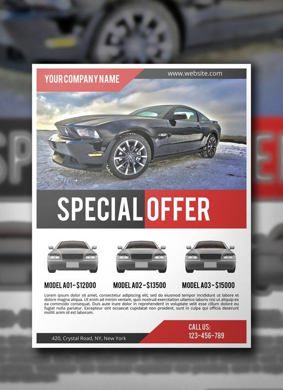 Car Sale Flyer PSD Template, Commercial Flyer Template, Corporate