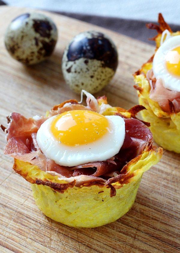 Nids de pommes de terre aux œufs de caille | Recette en 2019 | Pâques recette | Pinterest ...