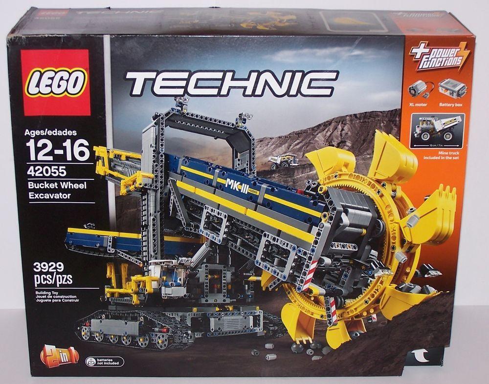 Lego 42055 Technic Bucket Wheel Excavator Building Toy Set 3929 Pcs Mine Truck Lego Figuras Enorme