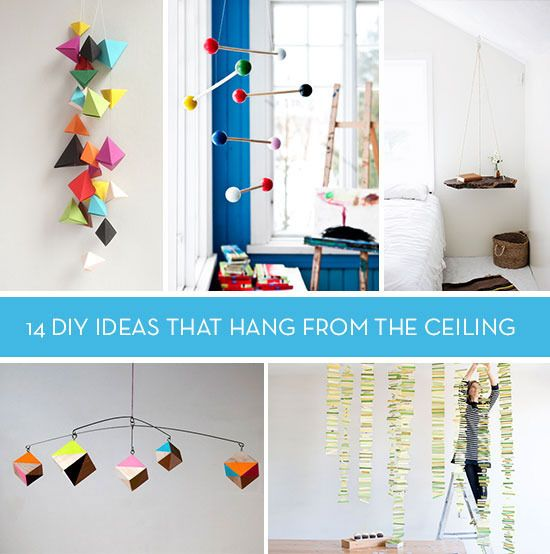 Let S Hang Out 14 Diy Ideas That Hang From Ceiling Things To Hang From Ceiling Hang From Ceiling Decor Geometric Mobile