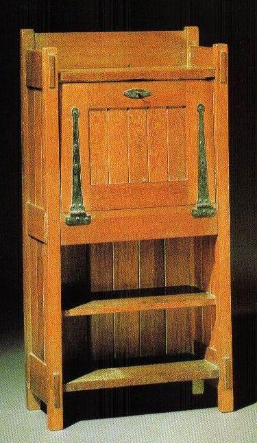 Gustav Stickley Drop Front Desk Craftsman Furniture Craftsman Style Furniture Arts And Crafts Furniture