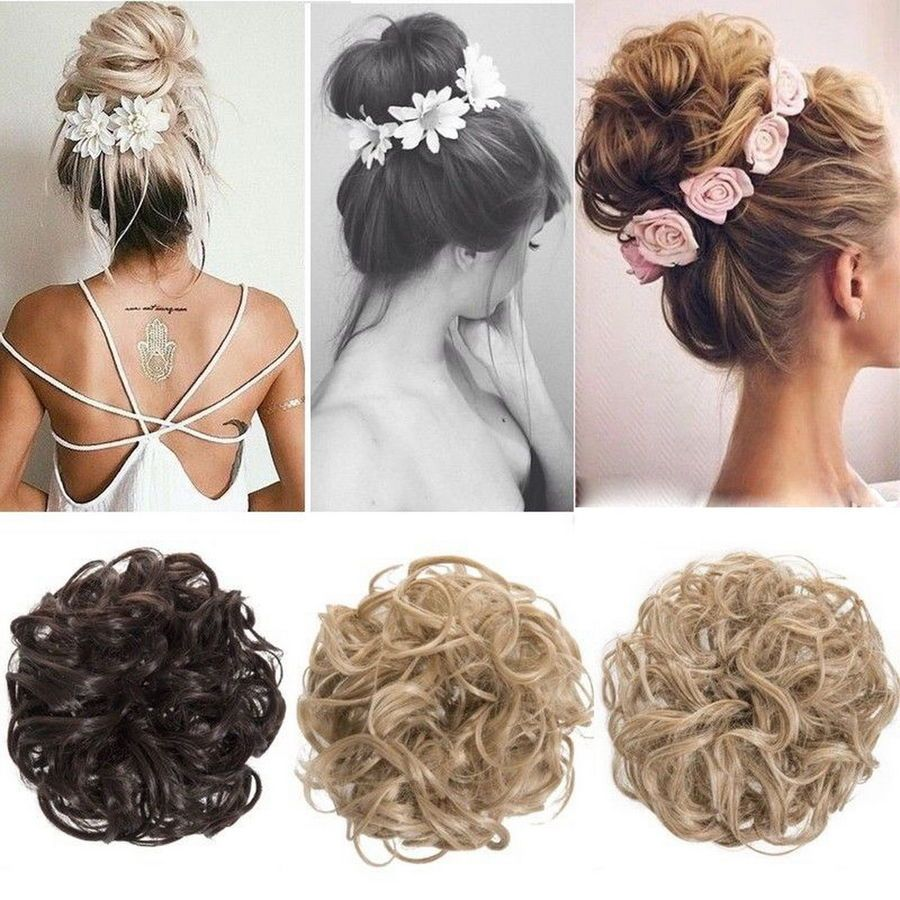 Messy Bun Hair Extensions Hair Piece Bun Pony Scrunchie Wavy Curly Wrap Long Uk Extensions Piece Pony Bun Hair Piece Thick Hair Styles Scrunchie Hairstyles