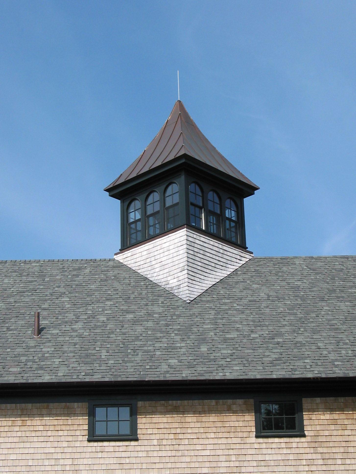 Barn with cupola diagonal with shingle sweep new england for Roof cupola plans