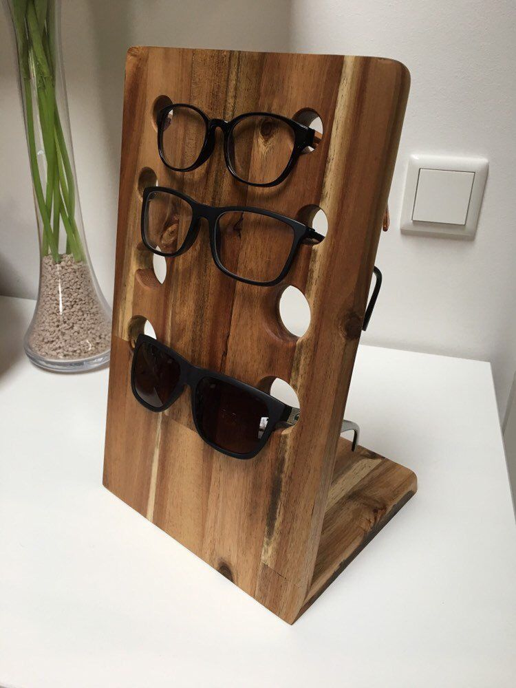 Photo of Brillenständer Brillenhalter aus Holz Akazie