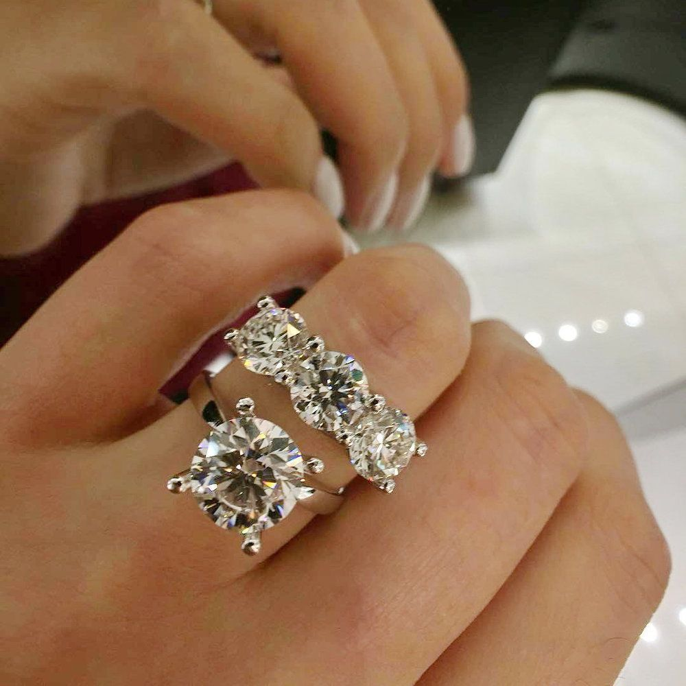 pave recently purchased engagement rings near flawless round diamond carat ring petite