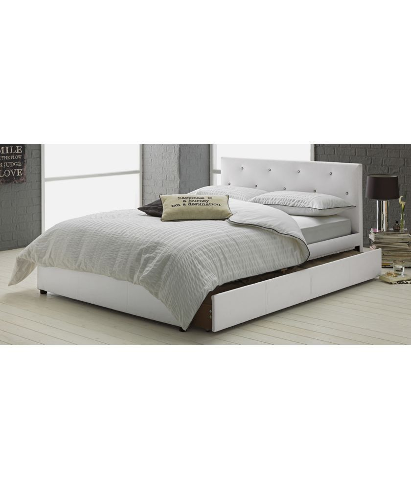 Hygena Imelda Double Bed Frame White At Argos Co Uk Your