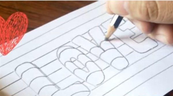Paso 3 Para Dibujar Letras En 3d