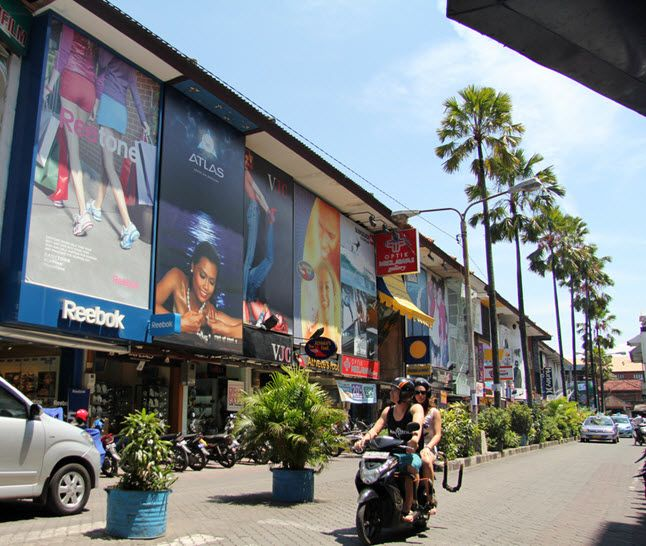 Shopping in Kuta and Sanur is vast and varied from markets and shopping centers, to roadside shops filled with local crafts, art, antiques, clothes and copy rip-offs.