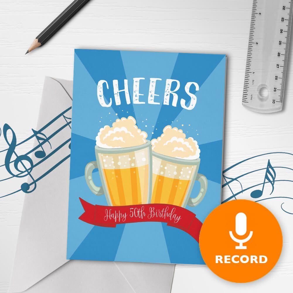 Cheers 50th Musical Birthday Card Bigdawgs Musical Birthday Cards Birthday Cards Cards