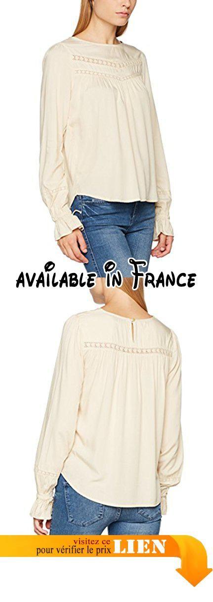 B06XPDCFTN : Noa Noa Soft Viscose Blouse Femme Grau (Oyster White 750) 40.