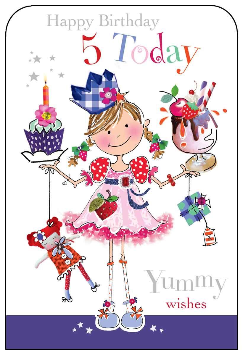 Jonny Javelin 5 Today Birthday Card Happy Birthday Niece Happy Birthday Images 5th Birthday Girls