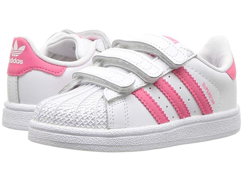 594d4d728599 adidas Superstar CF I (Toddler) Originals Kids Girls Shoes White Real Pink