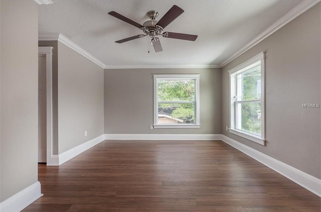 South Seminole Heights Home For Sale Grey Walls White Trim Grey