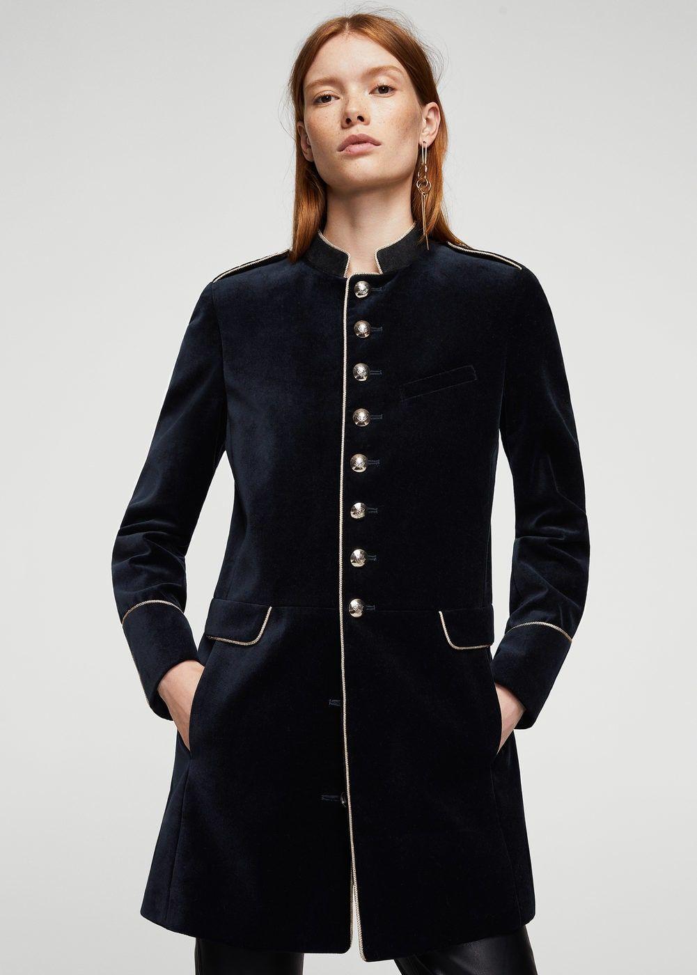 Military Style Coat Women Mango United Kingdom Military Fashion Military Style Coats Coats For Women [ 1400 x 1001 Pixel ]
