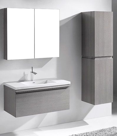 Venasca Ash Grey  Modern Bathroom Furniture  Ash Grey  Bathroom Entrancing Designer Bathroom Cabinet Design Inspiration