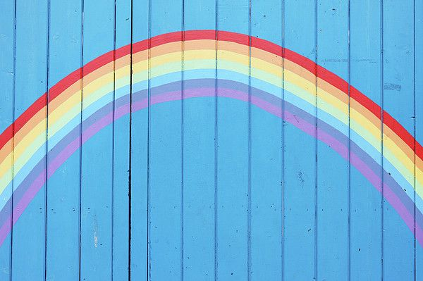 Make a rainbow for jules party for back fence