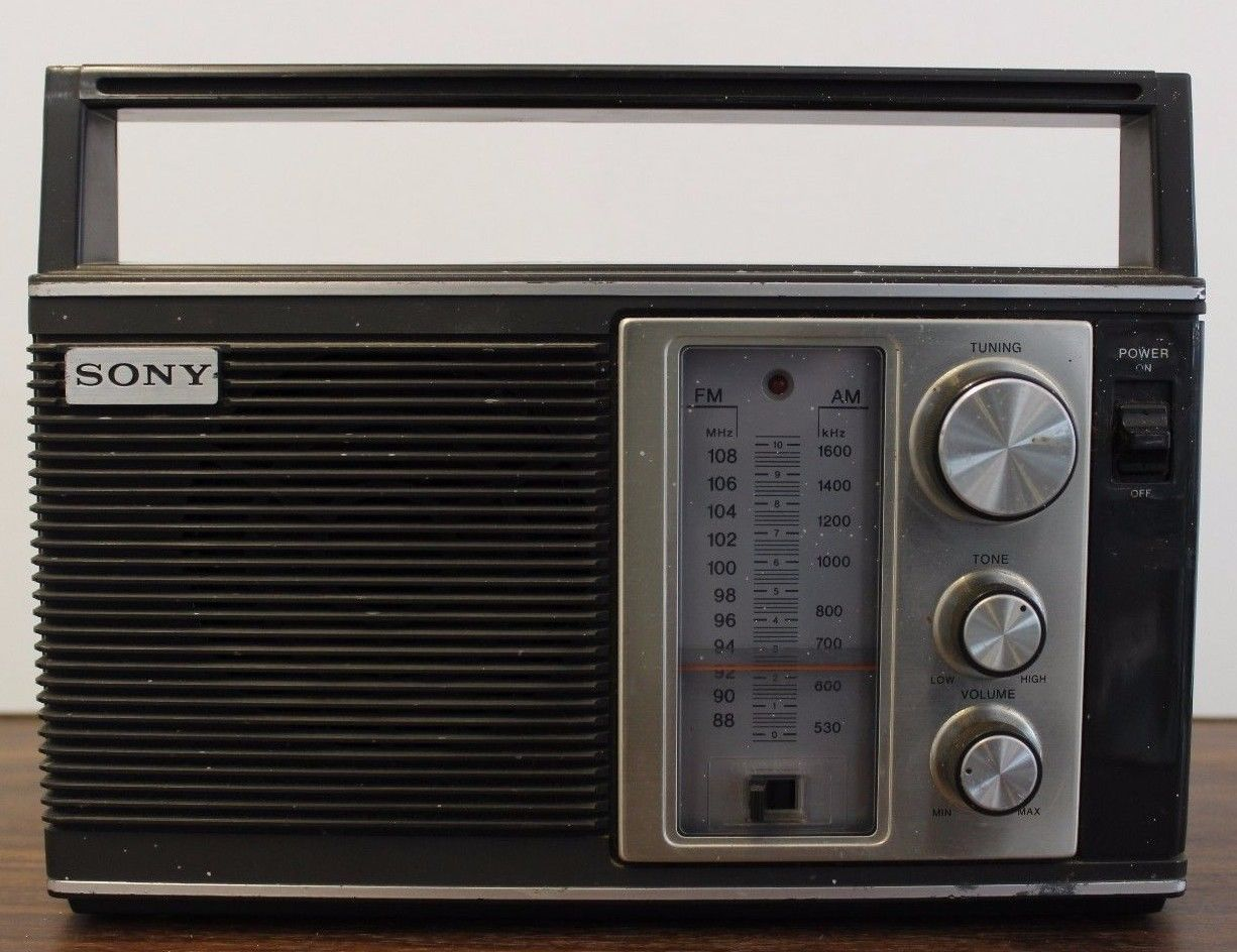 Vintage Sony 2 Band Portable Radio Am Fm Icf 7280w Ebay Radio