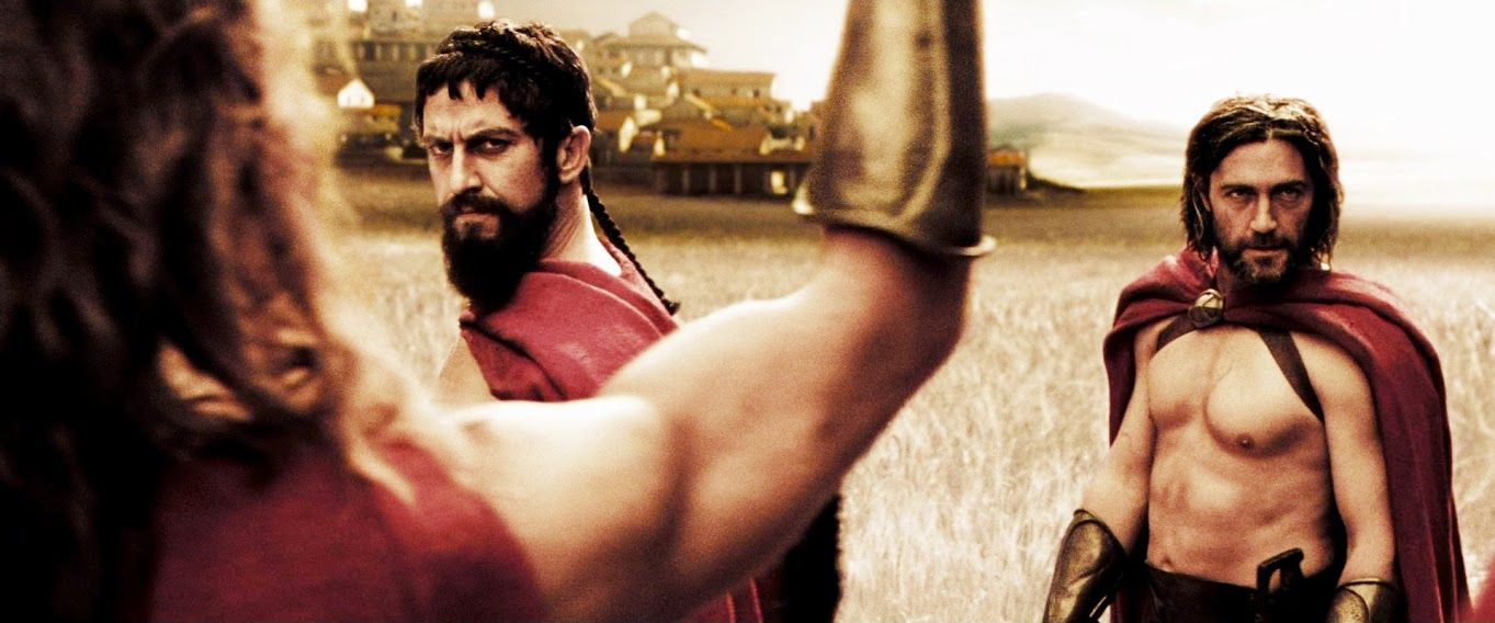 Captain Artemis & King Leonidas - 300 - (Vincent Regan & Gerard Butler ... Gerard Butler