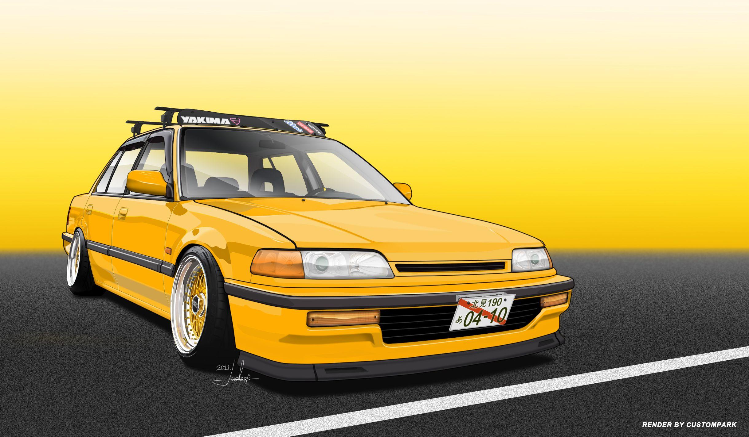 Beautiful Ef+Civic+Sedan | Vexel Civic EF Sedan By ARTriviant