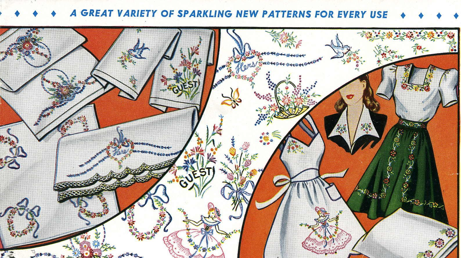 Vogart 129 A Variety of patterns for every use. Have copy on embroider Ladies
