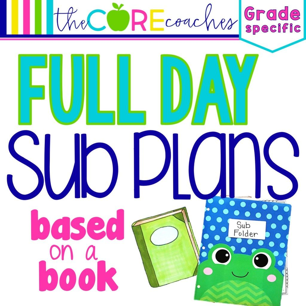 Full Day Sub Plans Based On A Book