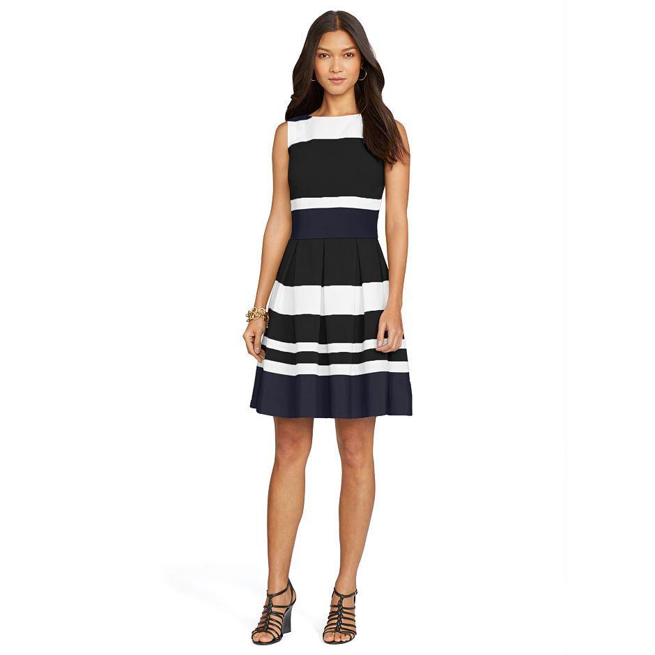 Gestreiftes ärmelloses Kleid | Sleeveless dress, Ralph ...
