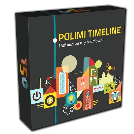 Polimi Timeline - KaleidosGames 2012. A board game celebrating the 150th anniversary of one of the most important Italian University. Art by Chiara Vercesi.