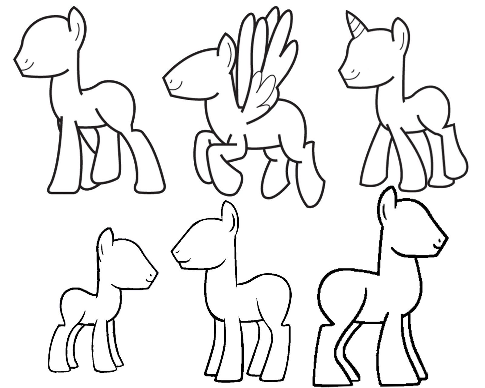 My little pony body drawing doodle craft design and draw your - Doodlecraft Design And Draw Your Own My Little Pony