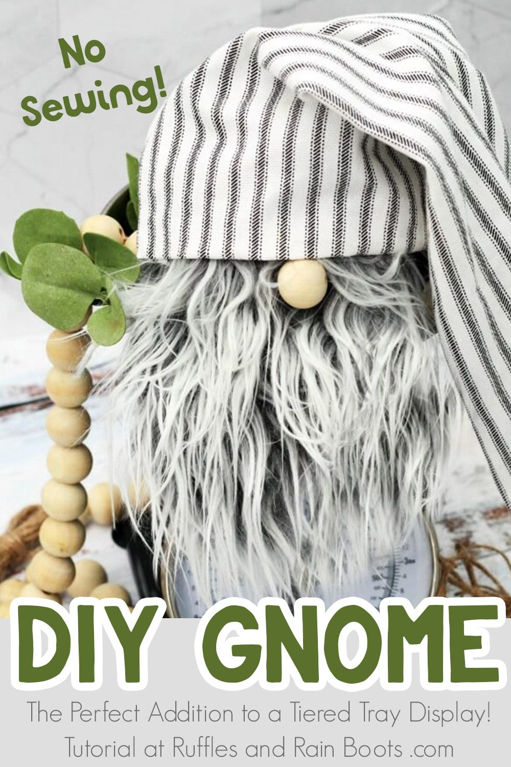 DIY Farmhouse Gnome in Only 20Minutes No Sewing! Diy