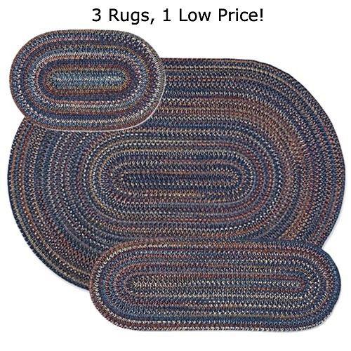 Wool Blend Braided Rug Set   Sturbridge Yankee Workshop