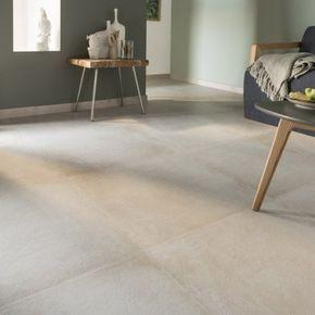 Carrelage Sol Et Mur Blanc Casse Effet Beton Time L 60 X L 60 Cm