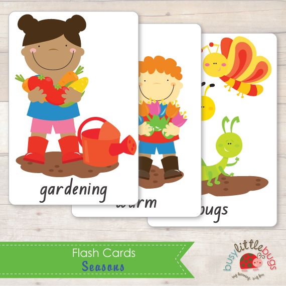 Flash Cards all about Spring